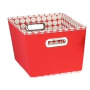 Household Essentials 2 Piece Dot Tapered Bin Set; Small