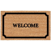 US Cocoa Mat DeCoir Welcome In Border Doormat