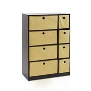 Furinno Econ 23.8'' Storage Cabinet with Bins