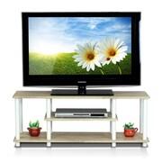 Furinno Turn-N-Tube TV Stand; Oak/White