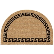 US Cocoa Mat DeCoir Half Round Greek Key Doormat