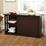 TMS Pacific Espresso Kitchen Island with Wooden Top