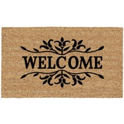 US Cocoa Mat DeCoir Floral Welcome Doormat
