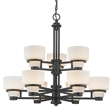 Dolan Designs Saxon 9 Light Shaded Chandelier
