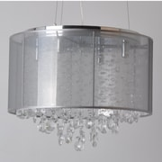 Avenue Lighting Riverside Drive 4 Light Drum Chandelier; Silver