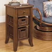 Wildon Home   Handy Stand End Table; Medium Brown
