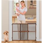 Summer Infant Secure Pressure Mount Wood and Plastic Gate; Walnut / Black
