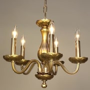 Classic Lighting Monaco 5 Light Crystal Chandelier; Gold Painted