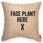 Posh365 Expressive ''Face Plant'' Decorative Burlap Throw Pillow; Large
