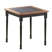 Boraam Square Tile Top Dining Table; Black / Cherry