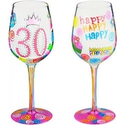 95 & Sunny 30 Another Year-Bottom's Up Wine Glass Older