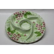 DestiDesign Round Ceramic Food Section Divided Serving Dish