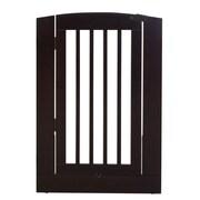 Camaflexi Individual Panel Pet Gate w/ Door; Chestnut