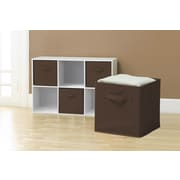 Sivan Collapsible Storage Cube (Set of 6); Chocolate