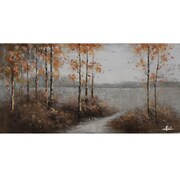 Yosemite Home Decor Revealed Artwork Walking Home Painting Print on Wrapped Canvas