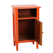 Antique Revival Zachary End Table; Burnt Orange