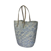 Fab Rugs Barielly Palm Leaves Tote; Turquoise