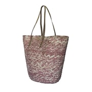 Fab Rugs Barielly Palm Leaves Tote; Pink