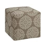 DHI Axis Gabrielle Cube Ottoman; Stone