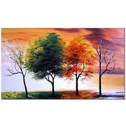 DesignArt Four Seasons Nature Tree Original Painting on Canvas