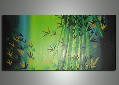 DesignArt Bamboo Abstract Original Painting on Canvas WYF078277972417