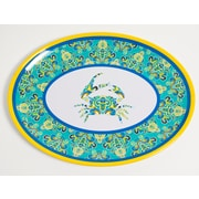 Galleyware  Company Yacht and Home Paisley Crab Melamine Oval Platter