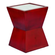 Hickory Manor House Alex End Table; Antique Chinese Red