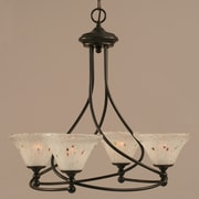 Toltec Lighting Capri 4-Light Shaded Chandelier; Frosted
