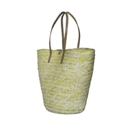 Fab Rugs Barielly Palm Leaves Tote; Yellow