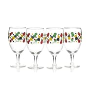 Fiesta Dot All Purpose Goblet (Set of 4); Cobalt/Scarlet/Shamrock/Sunflower