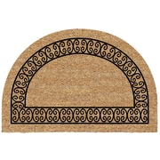 US Cocoa Mat DeCoir Half Round Charleston Border Doormat
