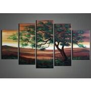 DesignArt The Strength of One - Landscape Tree 5 Piece Original Painting on Canvas Set