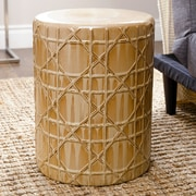 Abbyson Living Marilyn Ceramic Garden Stool; Beige