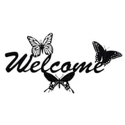 TrekDecor Legacy Butterfly Welcome Garden Sign