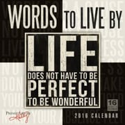 Sellers Publishing 2016 Words to Live By Wall Calendar