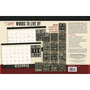 Sellers Publishing 2016 Words to Live By 16-month Desk Pad Planner