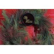 HensonMetalWorks Collegiate Wreath Holder Decoration; Mississippi