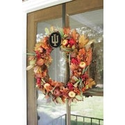 HensonMetalWorks Collegiate Wreath Holder Decoration; Indiana