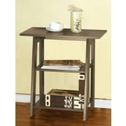 Speedy Stand Up Desk Ladder Chairside End Table; Rustic Gray