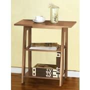 Speedy Stand Up Desk Ladder Chairside End Table; Weathered Light Oak