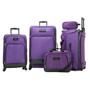 Skyway Seville 5 Piece Luggage Set; Purple