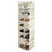 Macbeth Collection Textured Chevron 16-Compartment Hanging Shoe Organizer