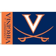 BSI Products NCAA Traditional Flag; Virginia - ''V'' & Sabres on Blue