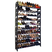 Maison Condelle Studio 707 50 Pair 9 Tier Shoe Rack; Black