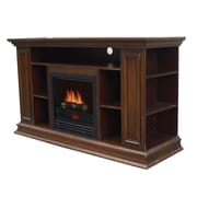 Stonegate Boston Media TV Stand with Electric Fireplace; Old Oak