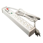 Wiremold® Perma Power® 6-Outlet Computer Grade Surge Protector with Lighted On/Off Switch, 6'