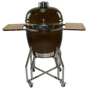 All-Pro KAMADO Stainless Steel Cart with Side Shelves for 19'' Grill