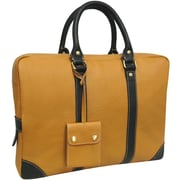 AmeriLeather Leather Commuter Portfolio Briefcase; Tan