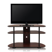 Home Loft Concepts Entertainment Center; Dark Cherry and Black