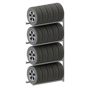 META Storage Solutions Inc. Clip S3 Tire Storage 4 Shelf Shelving Unit; 98'' H x 51'' W x 16'' D